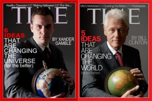 Xander Gamble and Bill Clinton TIME Magazine Covers